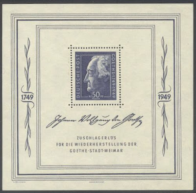 Germany Johann Wolfgang Von Goethe Minisheet