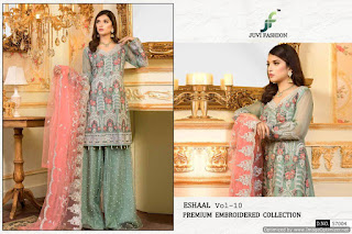 Juvi Fashion Eshaal vol 10 Georgette Pakistani suits