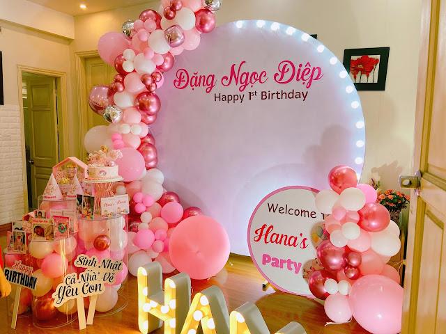thuê trang trí sinh nhật tại nhà đống đa