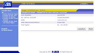 Cara Pembayaran Transaksi Menggunakan BCA Virtual Account