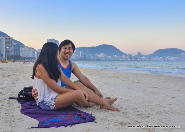 Just chilling at Copacabana beach