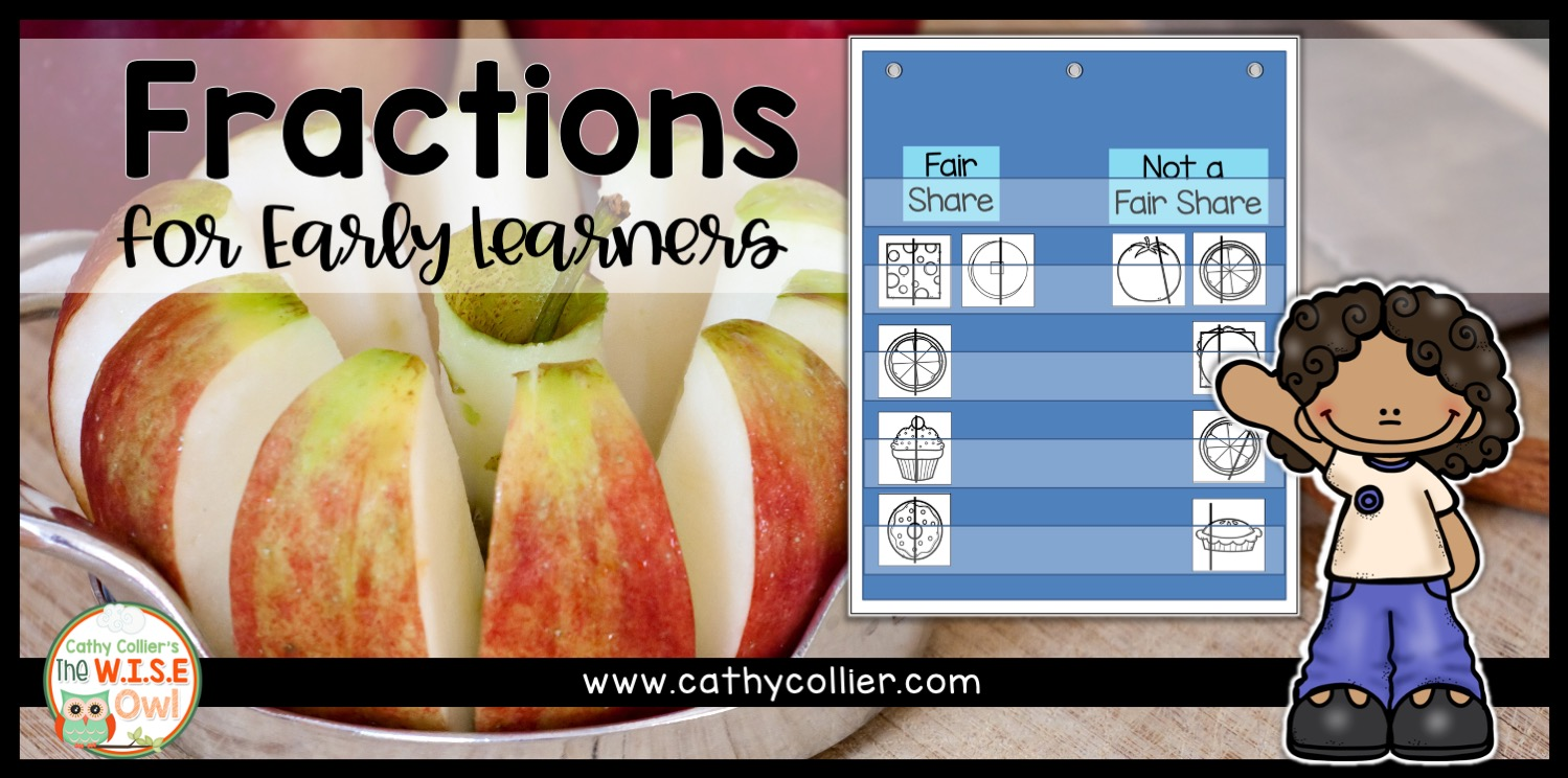 Fractions at the earliest level is based on equal parts and fair shares. Students can be guided through anchor charts, whole group lessons, partner work, and independent activities.