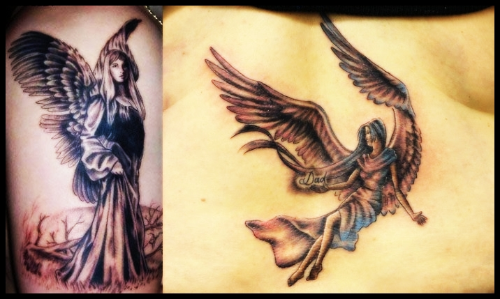 angel tattoo for girls - photo #43