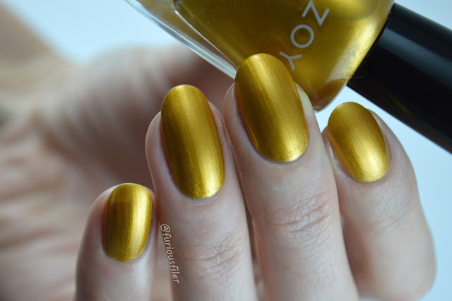 zoya goldie swatch yellow gold furious filer