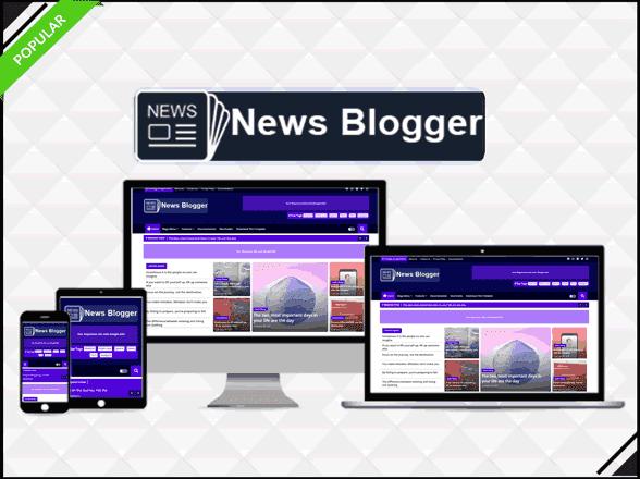 Download NEWS Blogger Premium Template ,Professional Magazine Template
