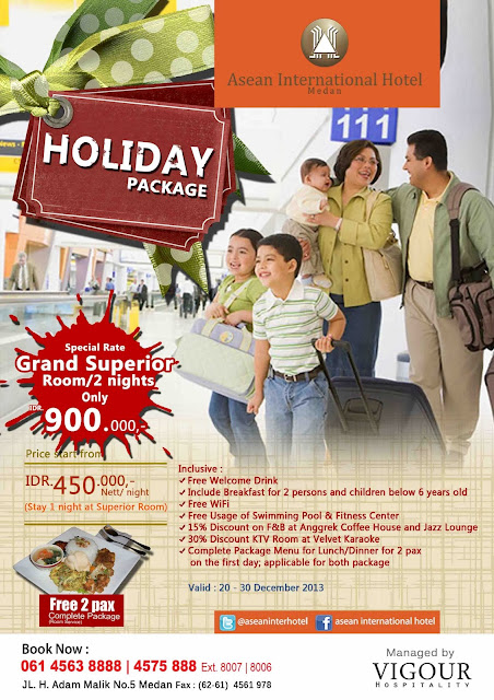 Asean International Hotel Medan -  Holiday Package