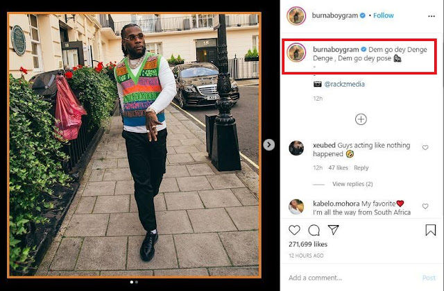 Check Out Burna Boy's Reaction Amidst Cheating Rumour With 'Endowed' Side Chic