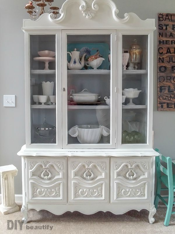 White Hutch A Labor Of Love Diy Beautify Creating Beauty At Home