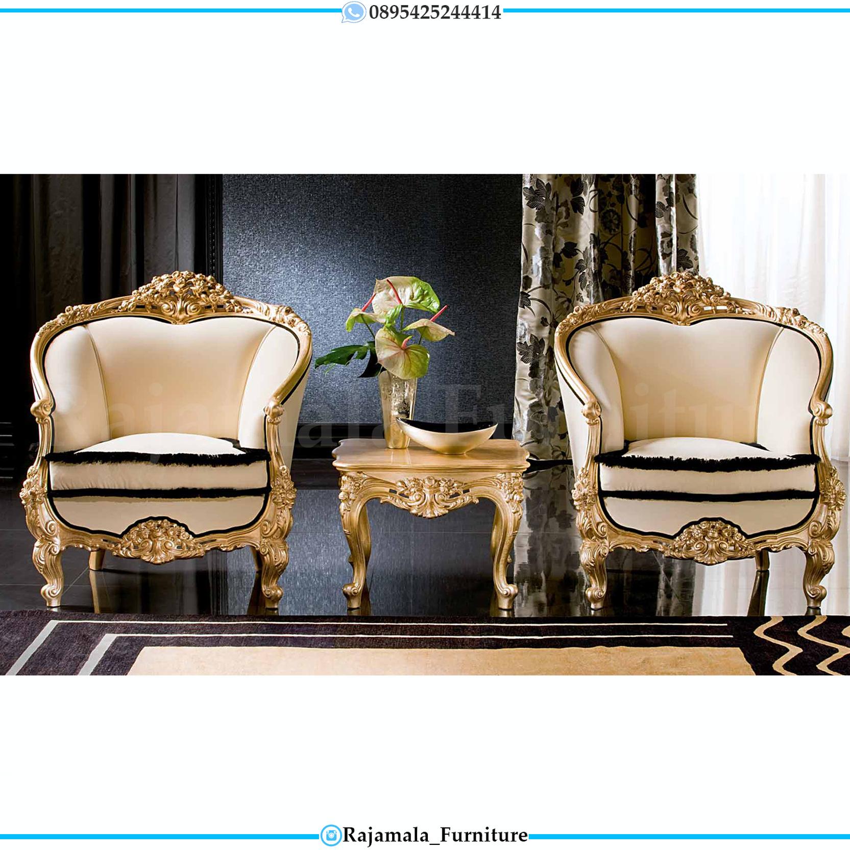 Kursi Teras Mewah, Coffee Table Luxury Classic Carving Jepara RM-0021