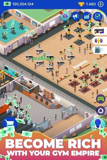 Idle Fitness Gym Tycoon - Workout Simulator Game v 1.5.4 apk DINHEIRO INFINITO