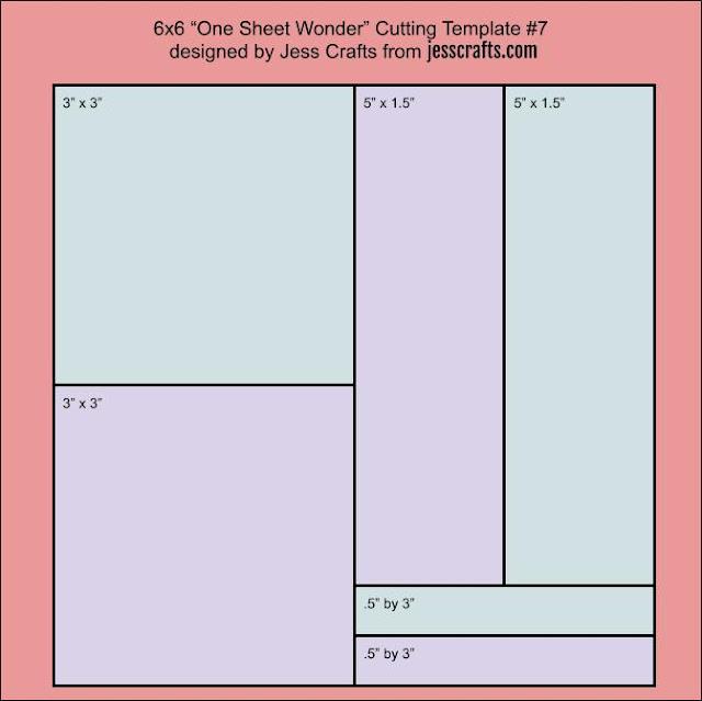 One Sheet Wonder Template #7 by Jess Crafts