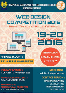WEB DESIGN COMPETITION 2016