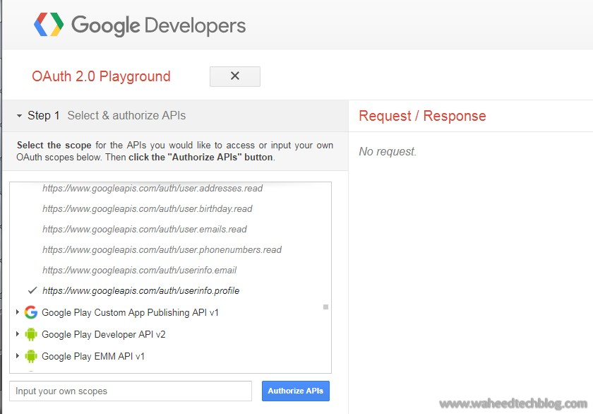 Tech Blog: Access User Profile API via Google OAuth 2 0 Playground ?