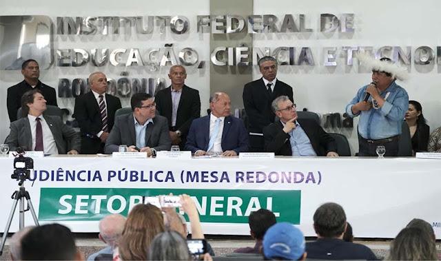 Audiência Pública em Rondônia finaliza com promessa de análise pela Comissão de Minas e Energia da Câmara Federal sobre a legalização e exploração de minérios no Estado