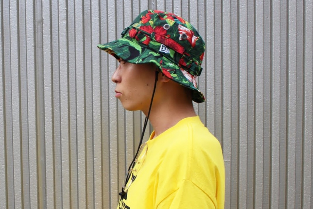 a2b6c754d49 NEW ERA  ADVENTURE HAT BOTANICAL GRN . SIZE   M L(約59cm). MODEL    普段着用サイズ7-3 8(約58.7cm)