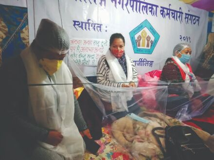 Employees of Darjeeling Municipality start relay hunger strike