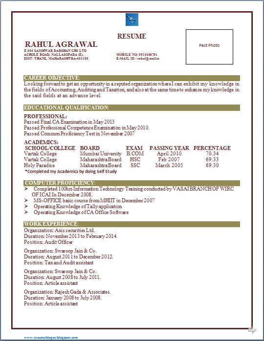 Sample CPA Resume - RemarkAble HR