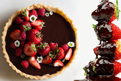 Strawberry tartlets - milk chocolate