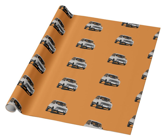 Renault 4 car - wrapping paper