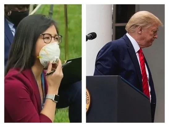 Watch: Trump spars with Asian American reporter over 'nasty question'