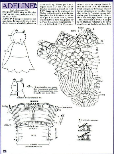 roupa de boneca croche receita