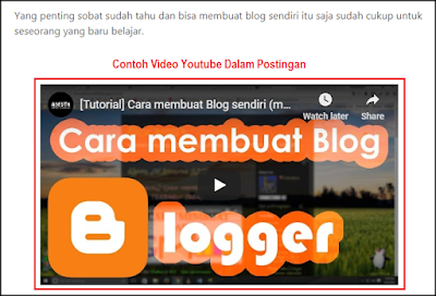 Upload Video Youtube ke Dalam Postingan