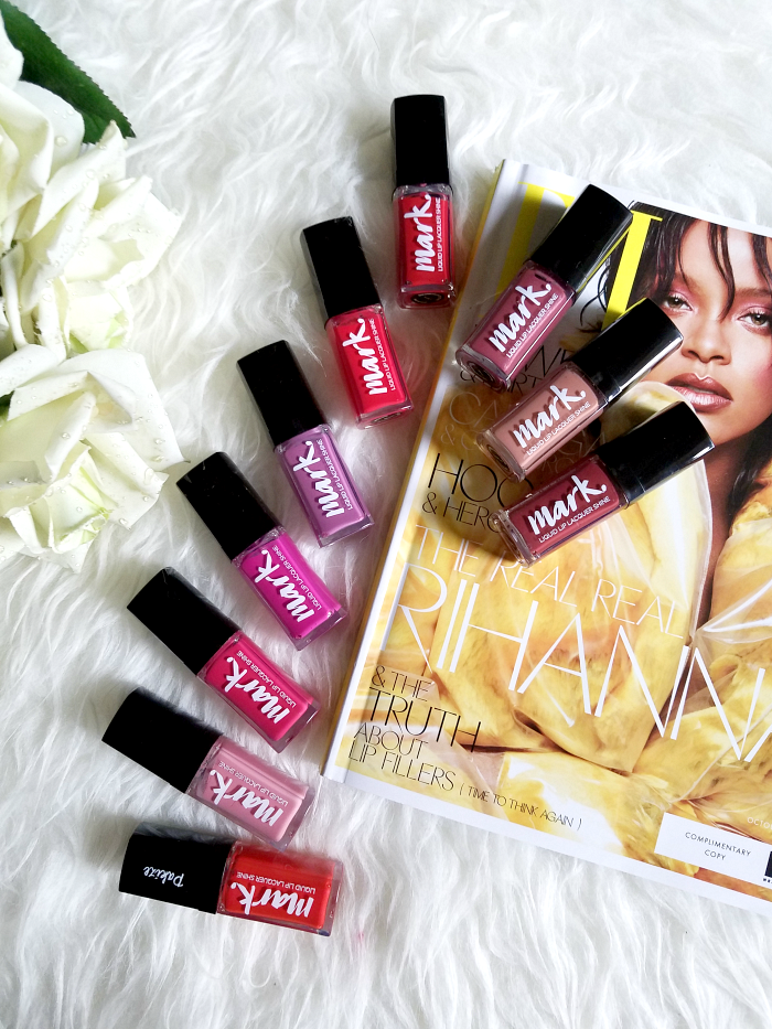 AVON Mark - Liquid Lip Lacquer Shine - Swatches & Review 10 Colours 1
