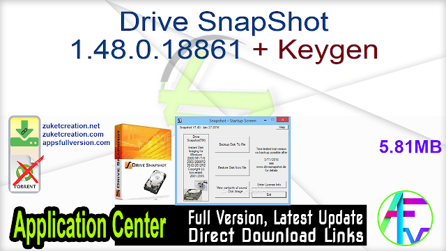 Drive SnapShot 1.48.0.18861 + Keygen