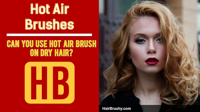 Hot air stylers on damp hair is better
