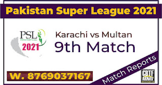 PSL T20 Today match prediction ball by ball Karachi Kings vs Multan Sultans 9th 100% sure Tips✓Who will win KRK vs MS Match astrology