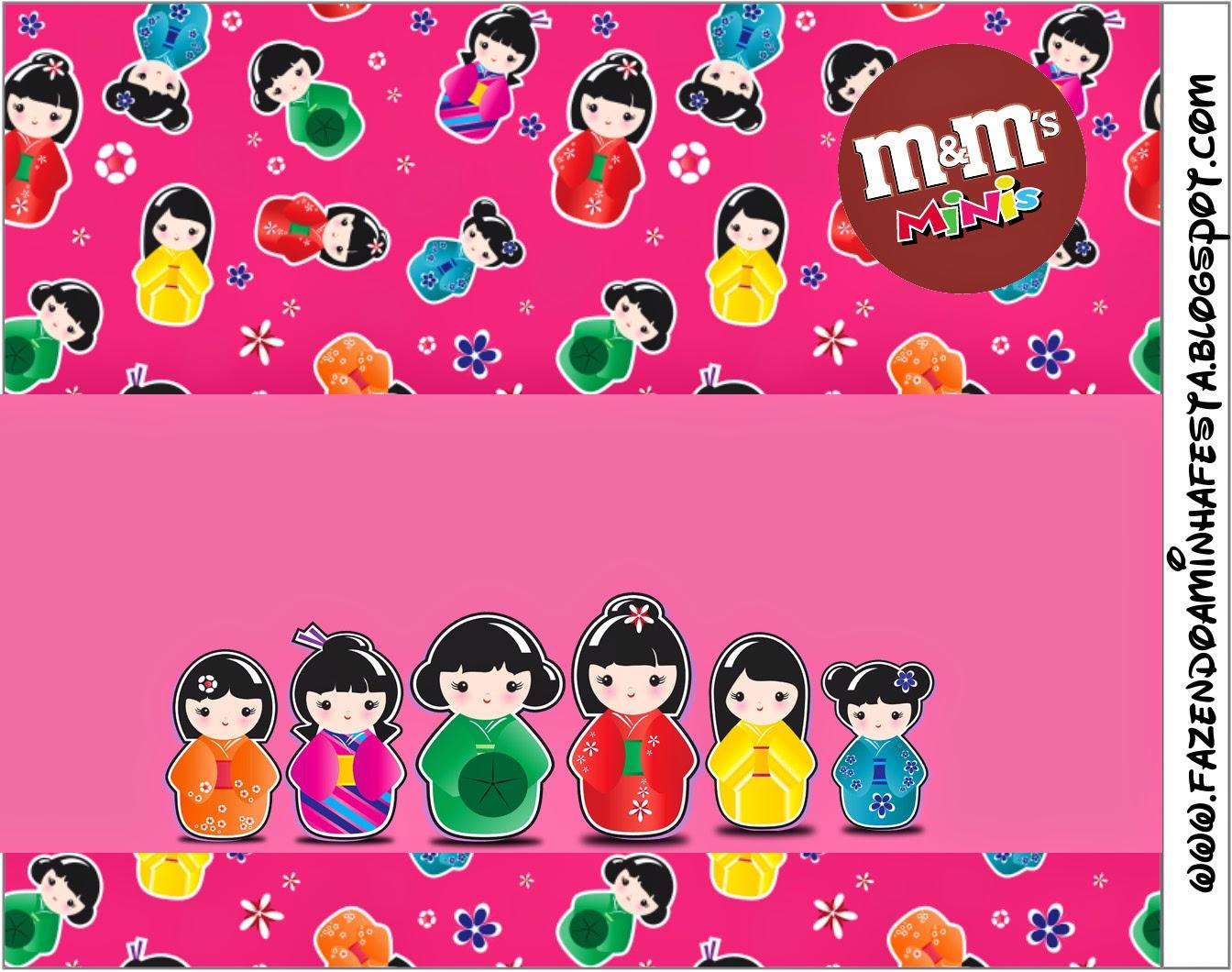 Etiqueta M&M para Imprimir Gratis de Matrioshkas.