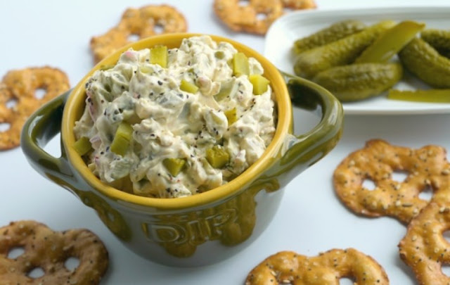 Dill Pickle Dip #appetizers #snacks
