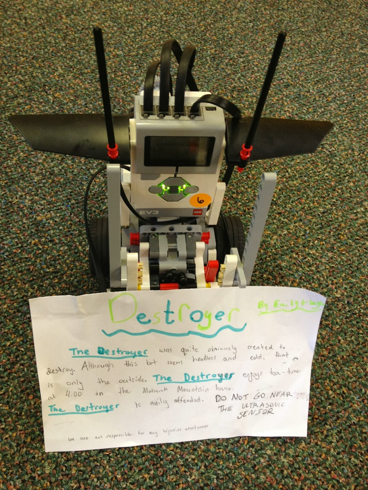 LEGO Teacher: First experiences with MINDSTORMS EV3
