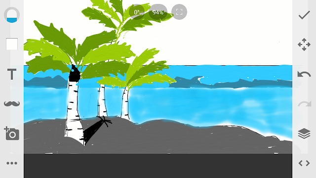 Cara Mengambar Pemandangan Pantai.