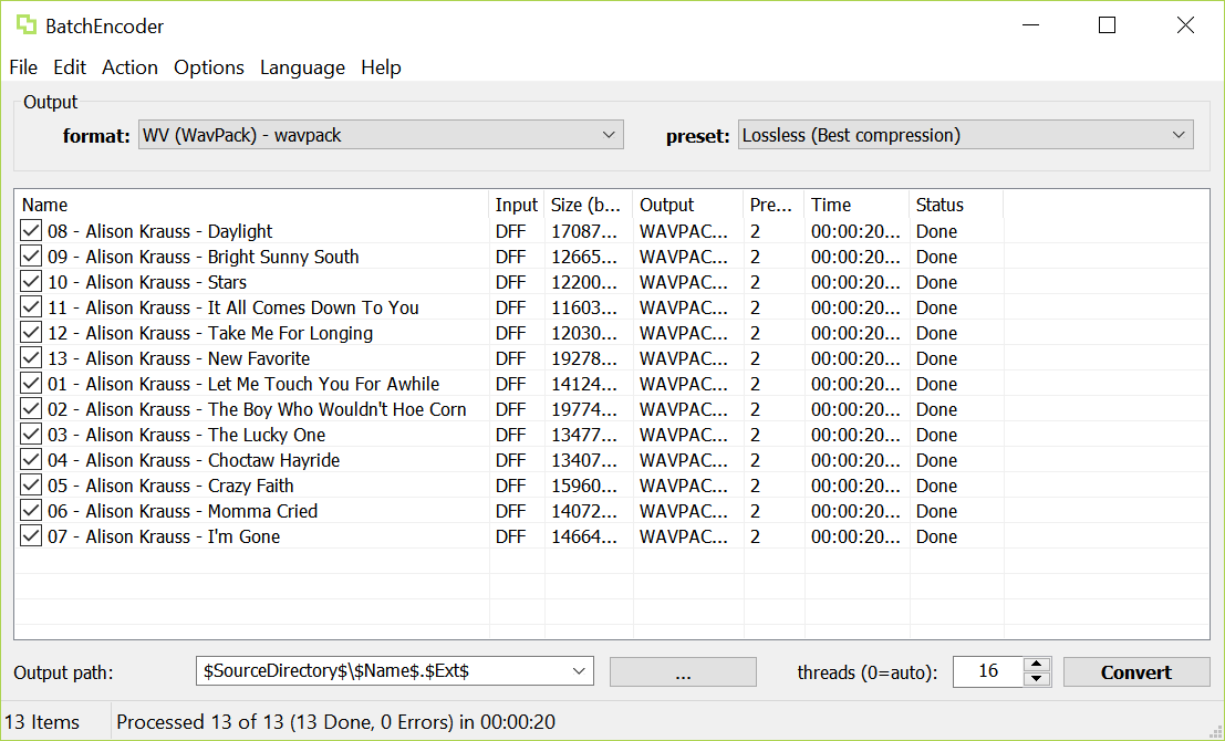 Archimago's Musings: MUSINGS: On DSD, tagging, compression