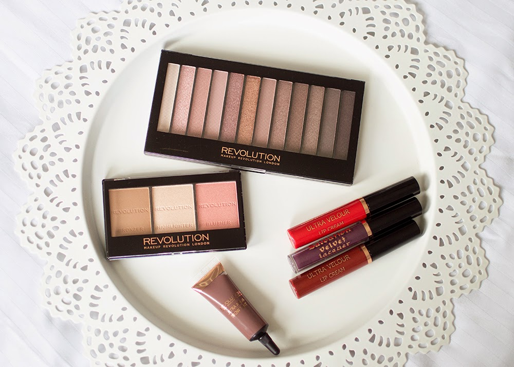 Makeup Revolution Haul Iconic 3, Contour Kit, Lip Creams, Eyebrow tint
