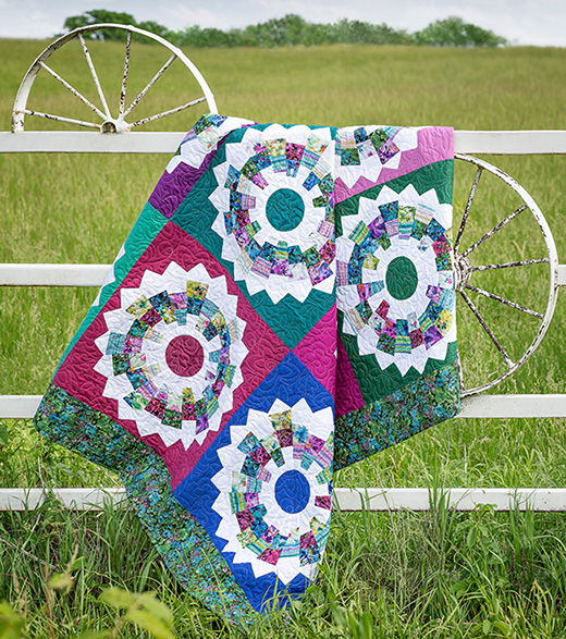 Dresden Blooms Quilt designed by Jenny of Missouri Quilt Co