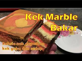 Kek Marble Bakar Mudah | Viral Kek Marble Jelita