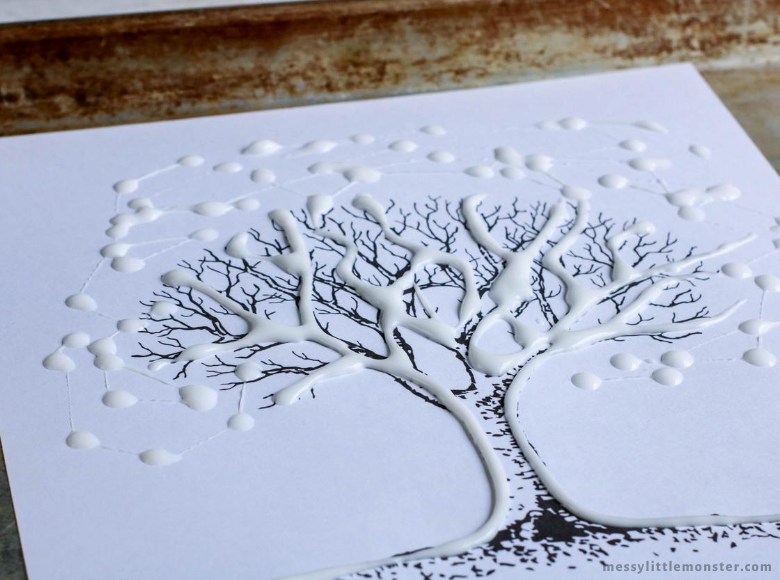 Autumn tree art