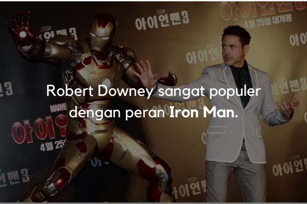 Robert Downey jadi ikon Iron Man