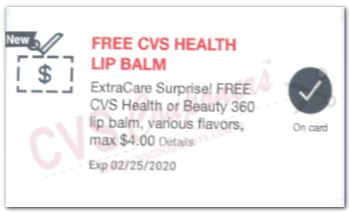 FREE CVS Health Lip Balm CVS App only Store Coupon
