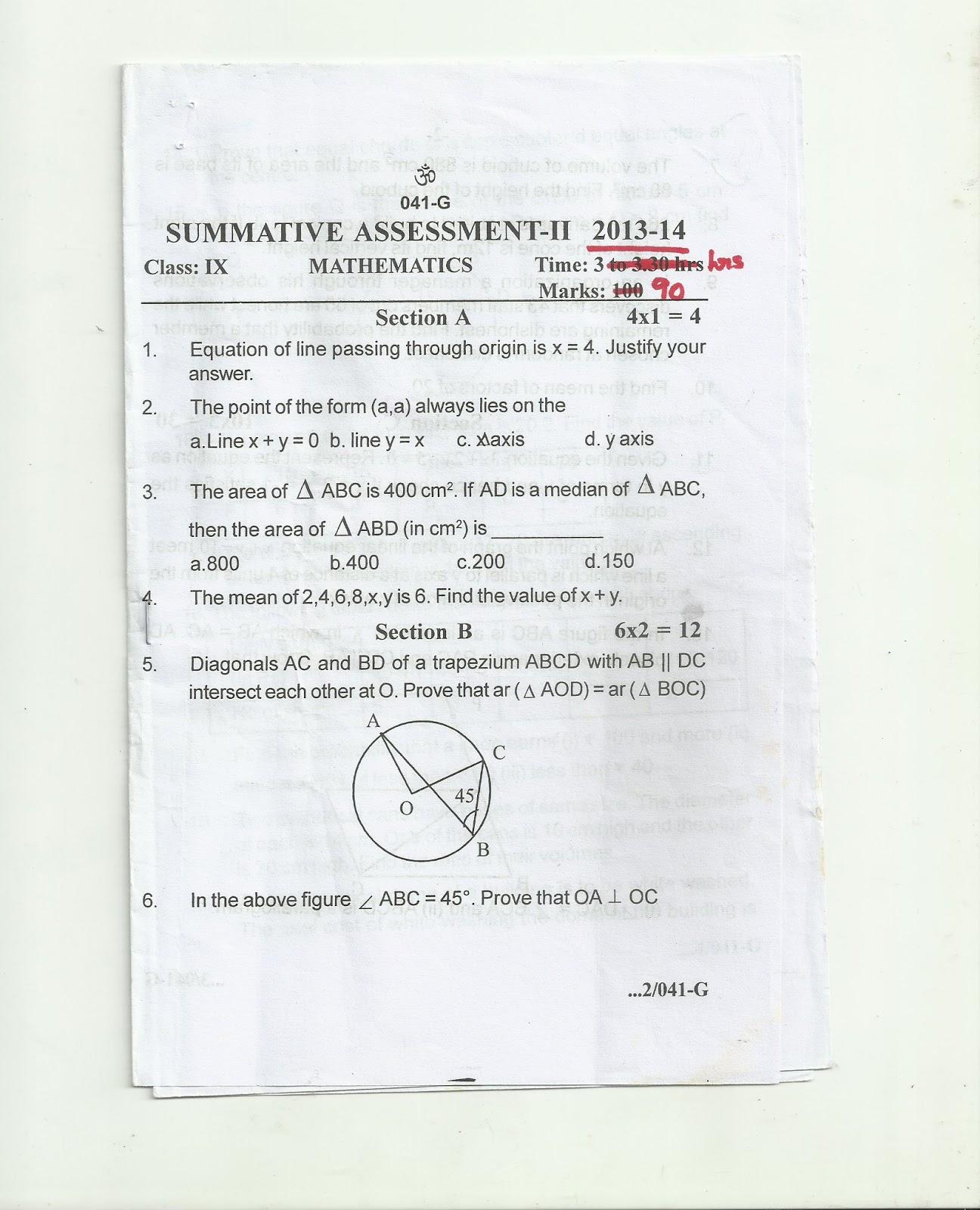 Posted By Subha Natarajan At 07:51 Noments: Cbse Class Ix & X Mathematics