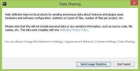IntelliJ IDEA Community Edition data Sharing-Setup-D Kotlin