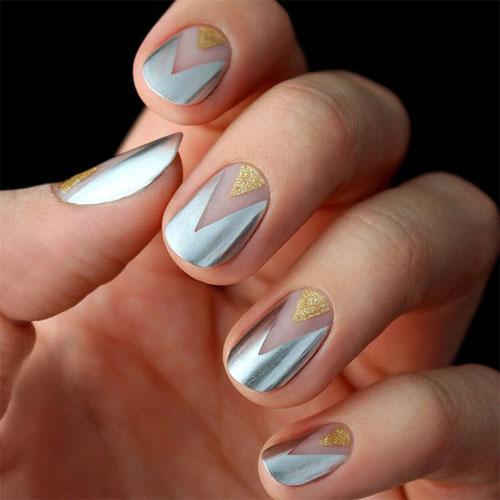 Metallic nail art designs choice image nail art and nail design easy stylish wedding nail art designs perfect women fashions gold and silver wedding metallic nail art prinsesfo Images