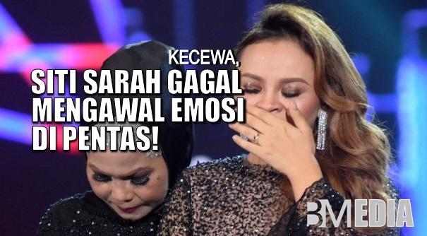 Kecewa, Siti Sarah Gagal Mengawal Emosi Di Pentas!
