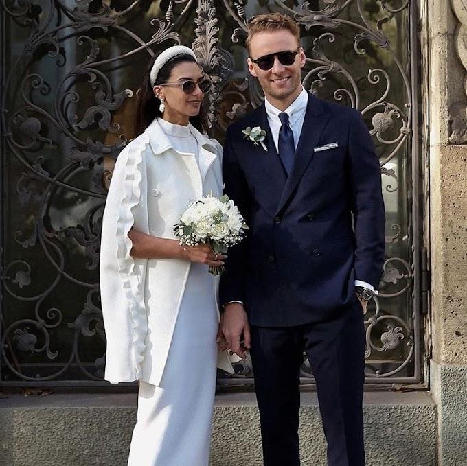 Laetitia Nimah Kutob se vuelve viral en moda por su capa de Valentino de novia