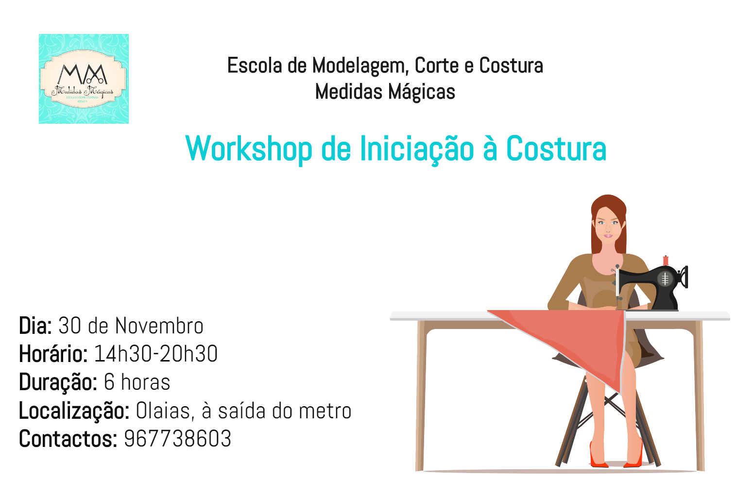 Workshop de iniciação à costura – Olaias (Lisboa)