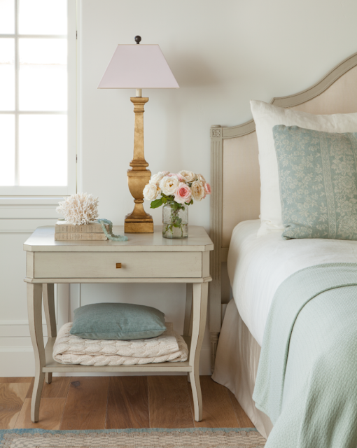 Breathtaking French Country modern farmhouse romantic bedroom by Giannetti Home - found on Hello Lovely Studio