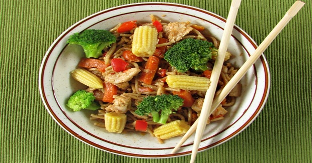 Asian Honey Hoisen Vegetable Stir-fry Noodles Recipe
