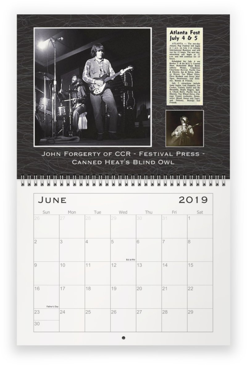 Calendar 1969.Phillip Rauls Photolog 2019 Commemorative Calendar For The 50th
